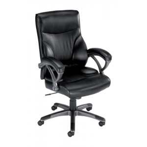 Influx Breeze Executive Armchair Back H610mm Seat W560xD520xH470-550mm Black Ref F5A
