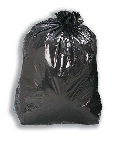 5 Star Bin Bags Medium Duty 100 Gauge 457x737x991mm Black Ref  [Pack 200]