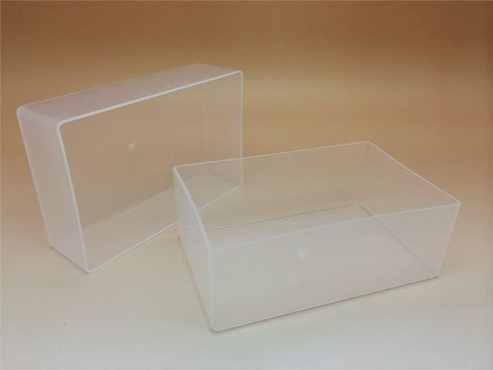 Business Card Box & Lid Large 95 x 60 x 70mm Plastic Base/Lid