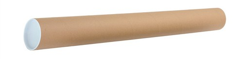 Postal Tube Cardboard with Plastic End Caps L970xDia.102mm [Pack 12]
