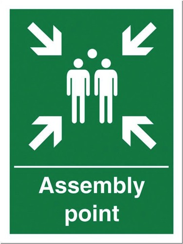 Stewart Superior Fire Assembly Point Sign 400x600mm Polypropylene Ref KS009PVC