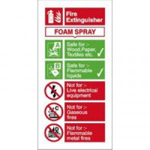 Stewart Superior Sign AFFF Foam Fire Extinguisher W100xH200mm Self-adhesive Vinyl Ref FF094SAV