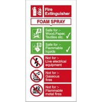 Stewart Superior Sign AFFF Foam Fire Extinguisher W100xH200mm Self-adhesive Vinyl Ref FF094SAV