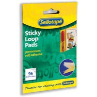 Image for Sellotape Sticky Loop Pads 96 Pads 20x20mm White Ref 504051