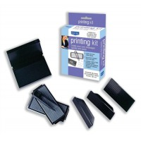 Image for Dormy Printing Kit Rubber Type Tweezers 3 Holders Stamp Pad Ref 179127