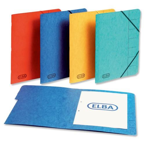 Elba Organiser File Pressboard Elasticated 7-Part Foolscap Green Ref 100090170 [Pack 5]
