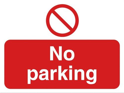 Stewart Superior Outdoor No Parking Sign Polypropylene W600xH450mm Ref KS011