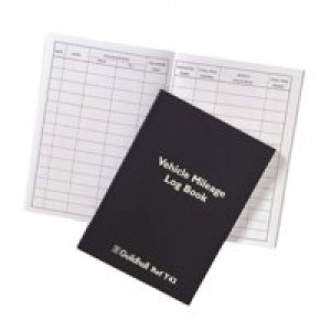 Guildhall Vehicle Mileage Log Book 60 Pages 149x104mm Black Ref T43Z