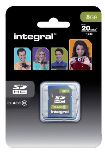 Integral Ultima Pro SDHC Memory Card with Protective Case Class 10 23MB/s 8GB Ref INSDH8G10-20