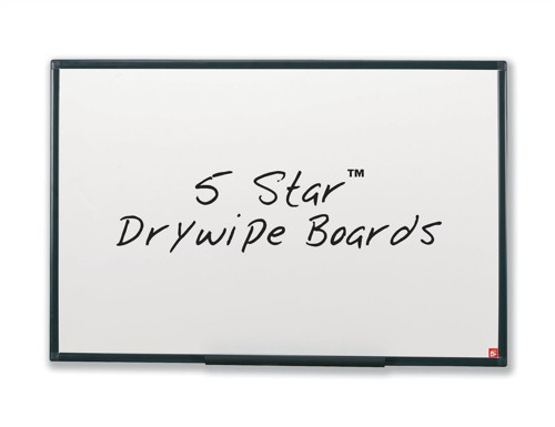 5 Star Drywipe Board Lightweight with Fixing Kit and Pen Tray W600xH450mm