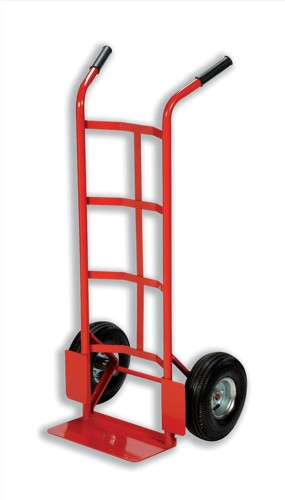 RelX Hand Trolley Heavy-duty Capacity 200kg Wheel 255mm Foot Size W555xL425mm Red Ref HT1830 [321428]