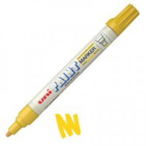 uni Paint Marker Bullet Tip Medium Point Px20 Line Width 2.2-2.8mm Yellow Ref 124362000 [Pack 12]