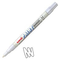 uni Paint Marker Bullet Tip Fine Point Px21 Line Width 0.8-1.2mm White Ref 9001957 [Pack 12]