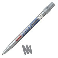 uni Paint Marker Bullet Tip Fine Point Px21 Line Width 0.8-1.2mm Silver Ref 9001951 [Pack 12]