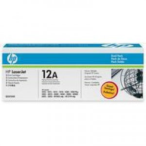 HP No.12A Laser Toner Cartridge Black Pack 2 Code Q2612AD