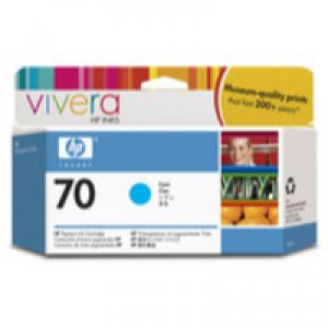 Hewlett Packard No70 Inkjet Cartridge 130ml Cyan C9452A