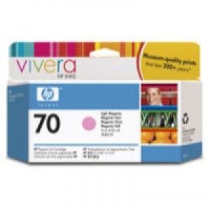 Hewlett Packard No70 Inkjet Cartridge 130ml Light Magenta C9455A