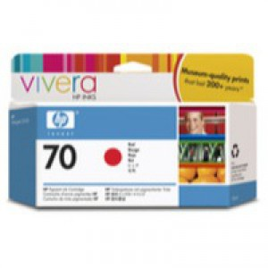 Hewlett Packard No70 Inkjet Cartridge 130ml Red C9456A