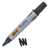 Image for Bic Marking 2000 Permanent Marker Bullet Tip Line Width 1.7mm Black Ref 820915 [Pack 12]