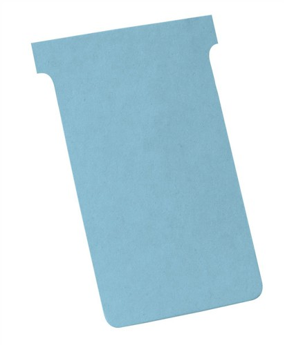 Nobo T-Cards 160gsm Tab Top 15mm W124x Bottom W112x Full H180mm Size 4 Light Blue Ref 32938930 [Pack 100]