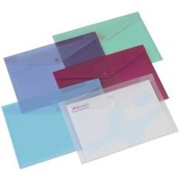 Rexel Carry Folder Polypropylene A4 Translucent Assorted Ref 16129AS [Pack 6]