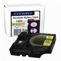 Dymo RhinoPRO Industrial Tape Permanent Polyester 12mmx5.5m White Ref S0718210