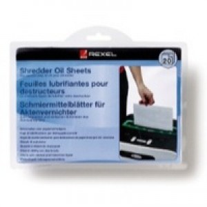 Rexel Oil Sheets in Envelope Design for for Monthly Even Lubrication of Shredder Ref 2101949 [Pack 20]