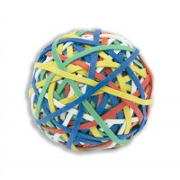 Image for 5 Star Office Rubber Band Ball of 200 Bands Natural Rubber Assorted