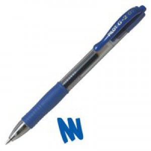 Pilot Gel Ink Retractable Rollerball Pen 0.4mm Line Blue G20703