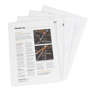 Elba Cut Flush Folder 80 Micron A4 Open Two Sides Clear Ref 225208 [Pack 100]