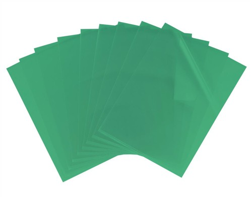 Elba Cut Flush Folder 80 Micron A4 Open Two Sides Green Ref 100206551 [Pack 100]