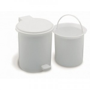 Addis Vanity Pedal Bin with Liner W200xH225mm White Ref 510802