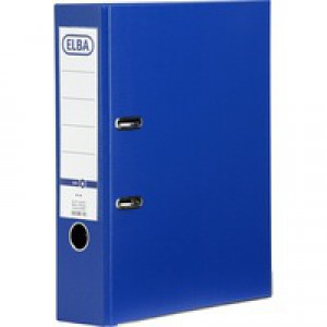 Elba Lever Arch File A4 Coloured Paper Over Board 80mm Spine Blue Ref B1045703 [Pack 10]