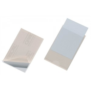 Durable Pocketfix Business Card and Label Pocket Self Adhesive Side Opening 57x90mm Ref 8079 [Pack 10]