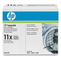 Hewlett Packard No11X LaserJet Toner Cartridge Black Twin Pack Q6511XD
