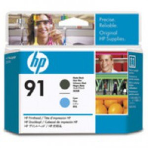 Hewlett Packard No91 Print Head Matte Black/Cyan C9460A