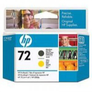HP No.72 Printhead Matte Black and Yellow Code C9384A