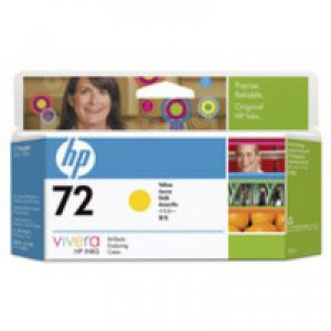 HP No.72 Inkjet Cartridge 130ml Yellow Code C9373A