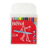 Berol Colour Fine Pen with Washable Ink 0.6mm Line Assorted Wallet 12 Code S0376510