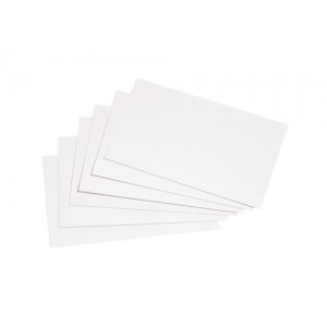 Record Card Smooth Blank 127x76mm White [Pack 100]