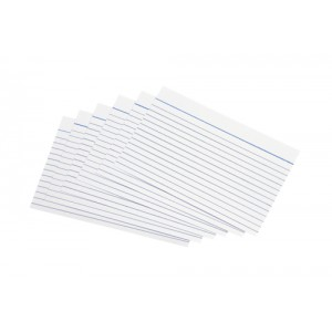 5 Star Record Cards Ruled Both Sides 6x4in 152x102mm White [Pack 100]