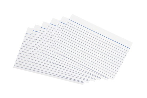 5 Star Record Cards 152x102mm Wht Pk100