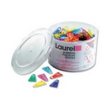 Laurel Paperclips Plastic Non-magnetising 25mm Assorted Colours Pack 500 Code 126011399