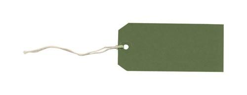 Tag Labels Strung Bulk Boxes Dark Green [Pack 1000]