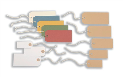 Tag Labels Strung Bulk Boxes Canary Yellow [Pack 1000]