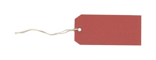 Tag Labels Strung Bulk Boxes Red [Pack 1000]