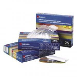Rexel Shredder Waste Sack AS1000 Pack 100 Code 40070