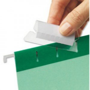 Esselte Pendaflex Tabs Plastic For Suspension Files Clear Ref 94514 [Pack 25]
