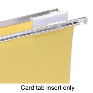 5 Star Card Inserts for Clenched Bar Suspension File Tabs White Ref 100331400 [Pack 50]