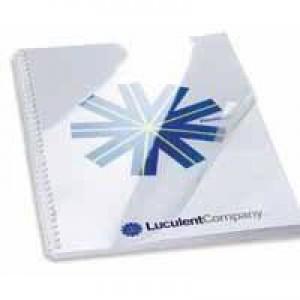 GBC Report Covers 150 micron Superclear A4 Clear Ref 41601E [Pack 25x2]
